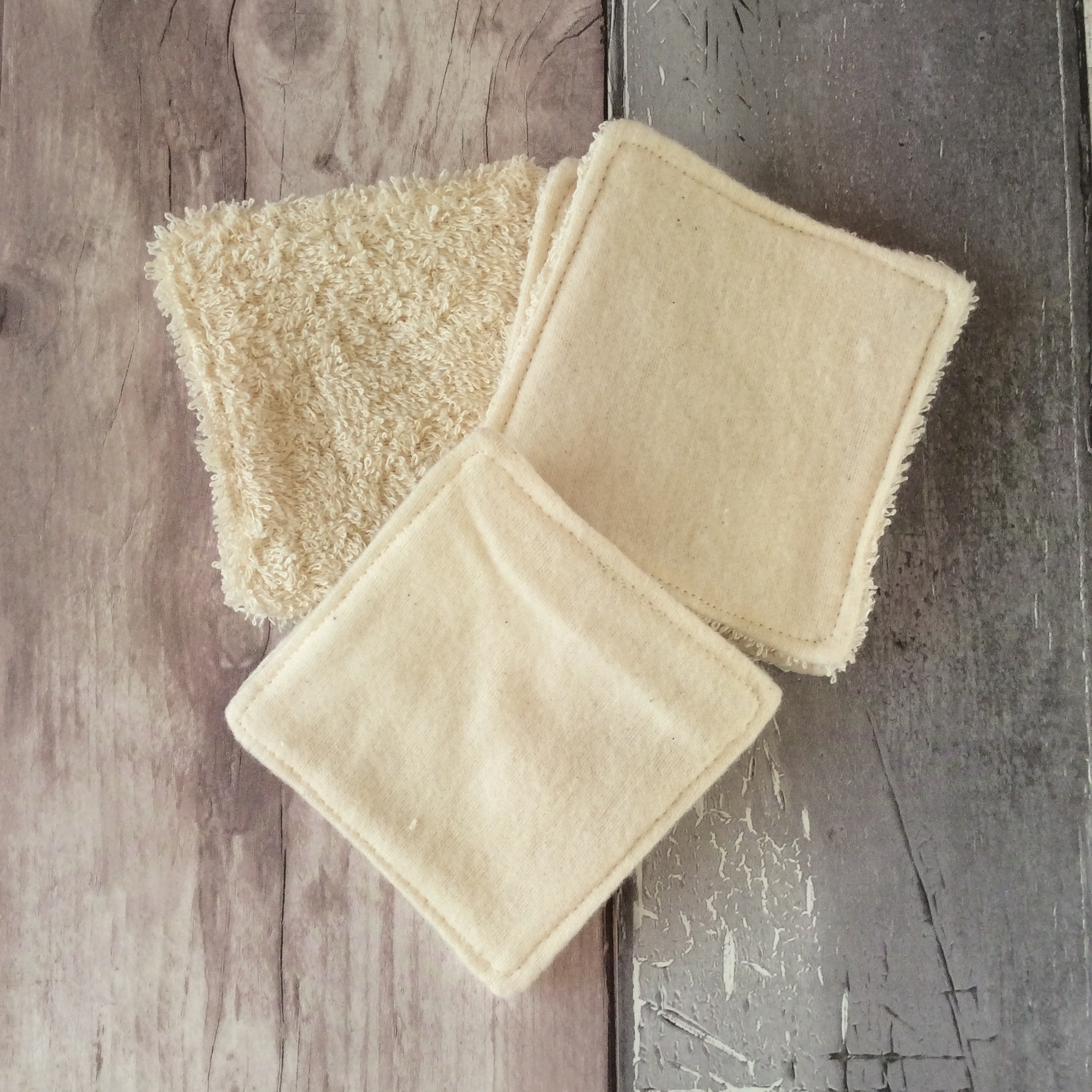 Organic Cotton Makeup Remover Pads, Handmade Haven