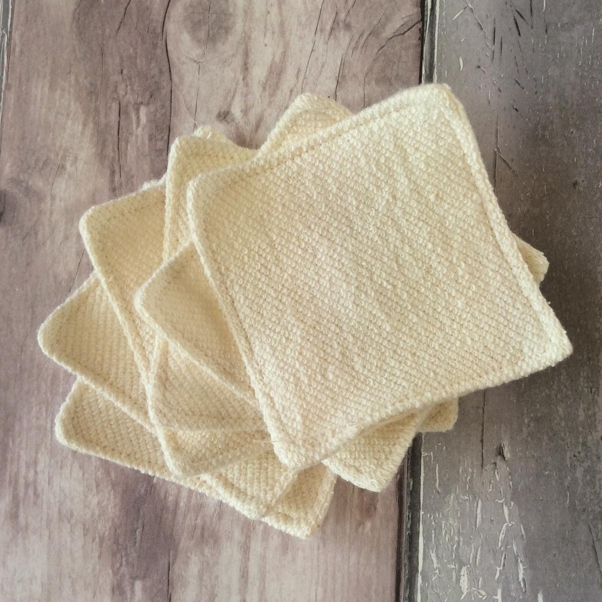 Organic Hemp and Cotton Makeup Remover Pads, Handmade Haven