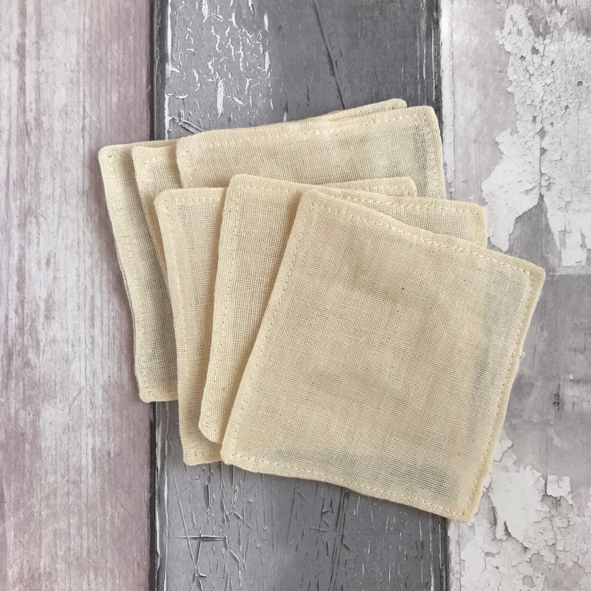 Organic Cotton Muslin Makeup Remover Pads, Handmade Haven