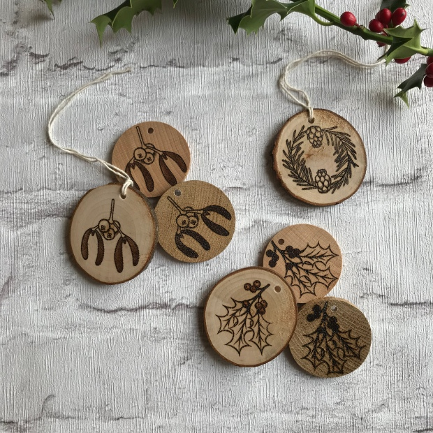 Handmade Haven, Sylvan Stories Pyrographer, Gift Set Decorations, zero waste decorations