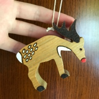 Handmade Haven, Sylvan Stories Pyrographer, Reindeer Christmas Decoration