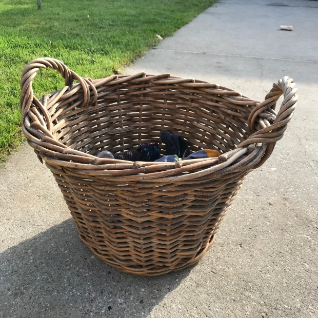 Handmade Haven, re-purposed fishermen's basket, laundry basket